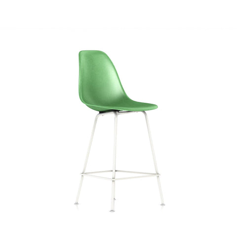 Herman Miller - Eames® Molded Fiberglass Counter Stool - Green / White Base - Lekker Home
