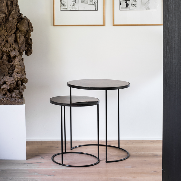 Aged Mirror Nesting Side Table Set by Notre Monde | Lekker Home