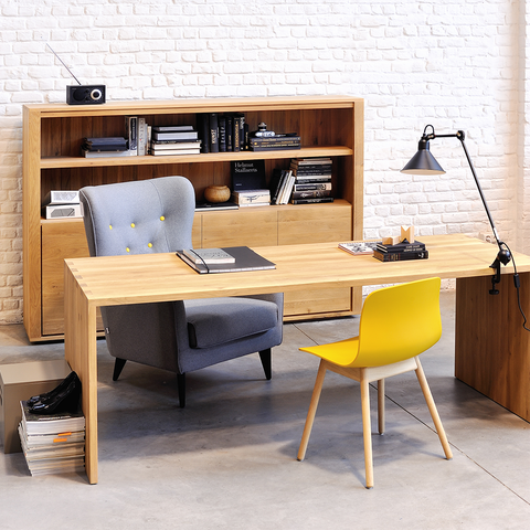 "Ethnicraft NV - U Desk - Solid Oak / 55"" - Lekker Home"