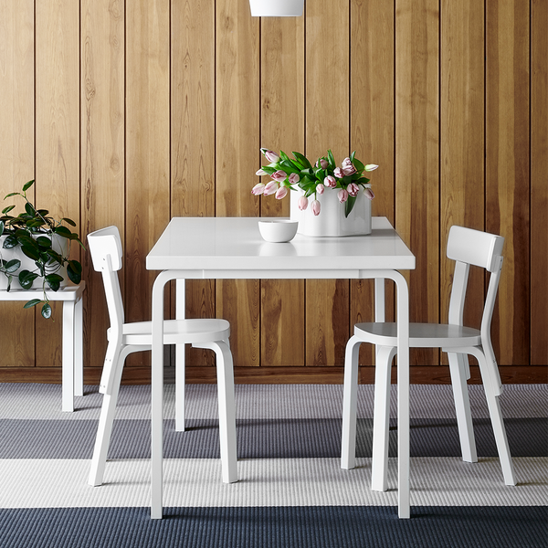 Artek - Chair 69 - Natural Lacquered / IKI White HPL - Lekker Home