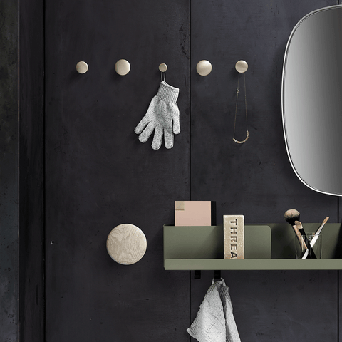 Muuto - The Dots Metal Coat Hook - Brass / Small - Lekker Home