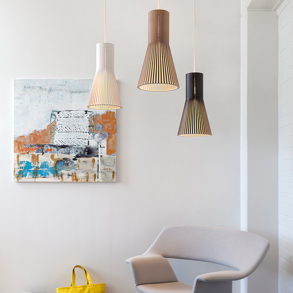 Secto Design - Secto 4201 Pendant - White Laminated / One Size - Lekker Home