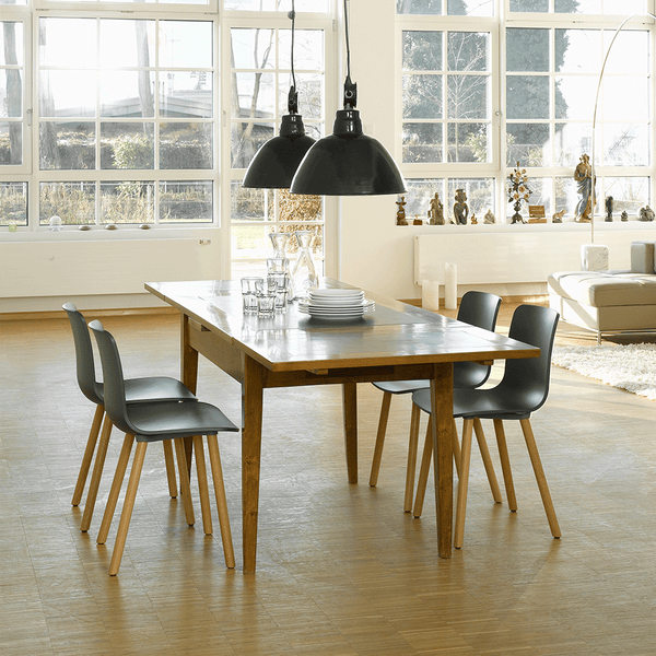Vitra - HAL Side Chair - White / Natural Oak - Lekker Home