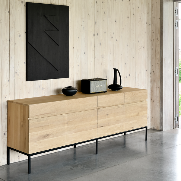 Ethnicraft NV - Ligna Sideboard - 2 Doors / Stainless Steel - Lekker Home