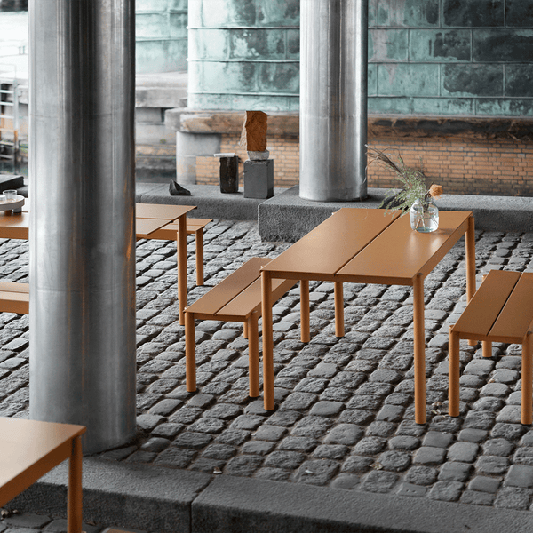 "Muuto - Linear Steel Table - Burnt Orange / 55.1"" - Lekker Home"