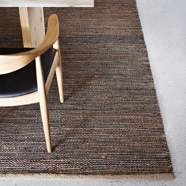 Drift Weave Rug | Natural & Black | Armadillo & Co.