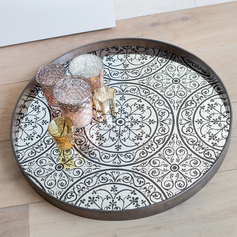 Notre Monde - Moroccan Round Tray - Lekker Home