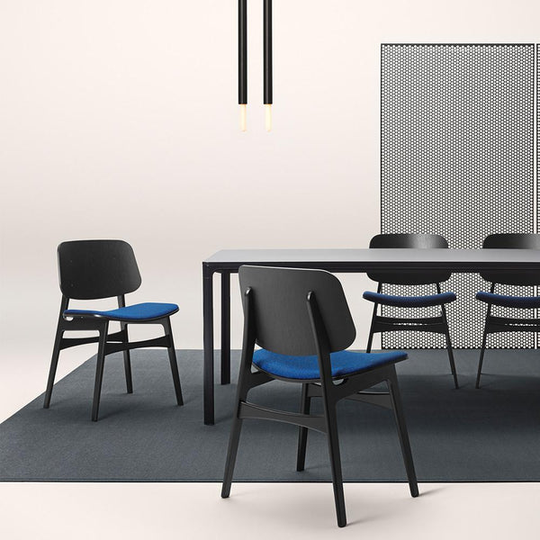 Fredericia - Søborg Chair - Wood Frame - Black Lacquered Oak / One Size - Lekker Home
