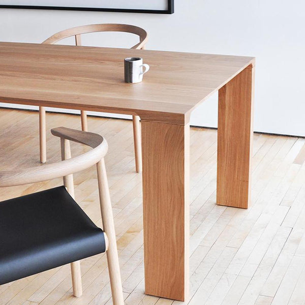 "Bensen - Radii Dining Table - White Oak / 79"" - Lekker Home"