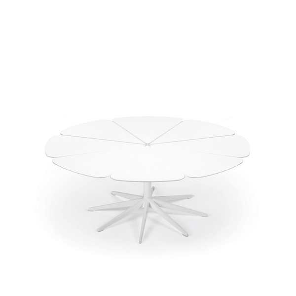 Knoll - Petal® Coffee Table - White / White Petals - Lekker Home