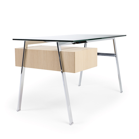 Bensen - Homework 1 Desk - Chrome Legs - Lekker Home