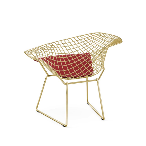 Knoll - Bertoia Diamond Chair - Gold - Vinyl Black / One Size - Lekker Home