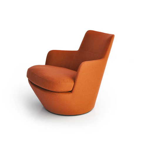 Bensen - Lo Turn Chair - Tan Sahara Leather / Auto-Return Swivel - Lekker Home