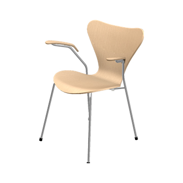 Fritz Hansen - Series 7 Arm Chair - Wood - Lekker Home - 1