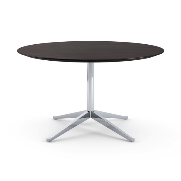 Knoll - Florence Knoll Table Desk Round - Ebonized Oak / One Size - Lekker Home