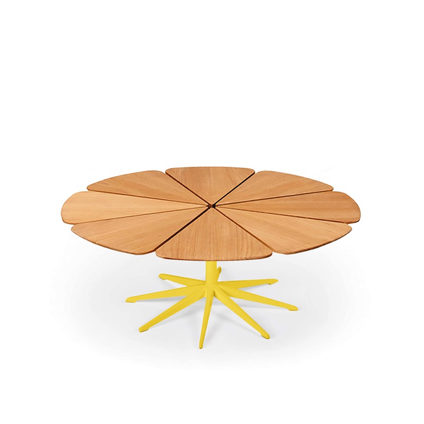 Knoll - Petal® Coffee Table - Yellow / Teak Petals - Lekker Home