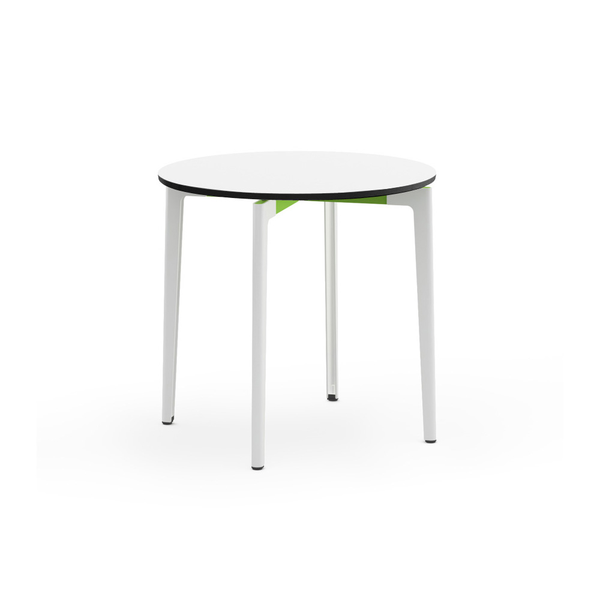 "Knoll - Stromborg Table Round 32"" - Lime Green / Bright White Laminate - Lekker Home"