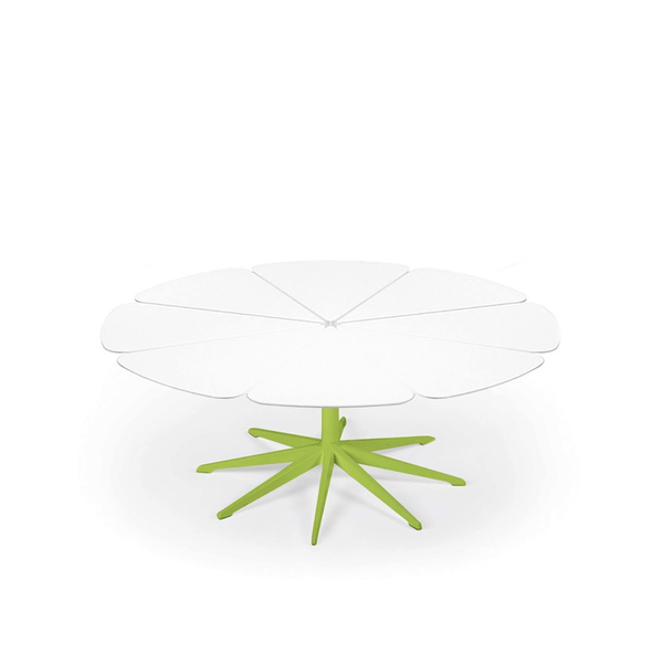 Knoll - Petal® Coffee Table - Lime Green / White Petals - Lekker Home