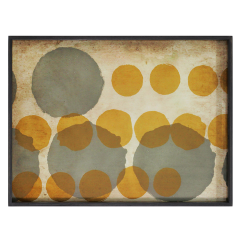 Notre Monde - Layered Dots Rectangular Tray - Default - Lekker Home