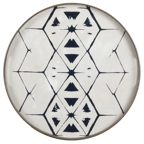 Notre Monde - Tribal Hexagon Round Tray - Default - Lekker Home