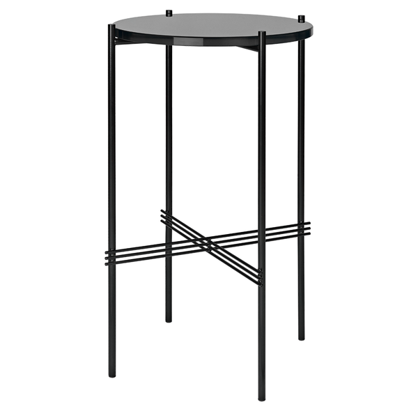 GUBI - TS Round Console - Graphite Black Glass / Black - Lekker Home