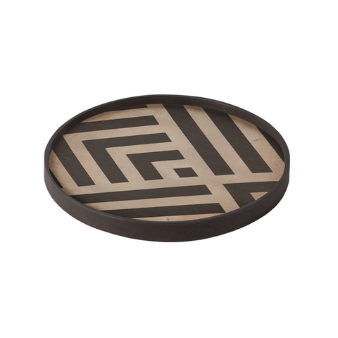 Notre Monde - Graphite Chevron Tray - One color / Mini - Lekker Home
