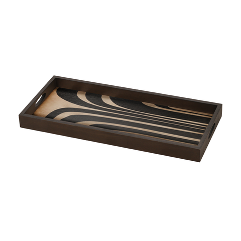 Notre Monde - Graphite Curves Tray - Default - Lekker Home