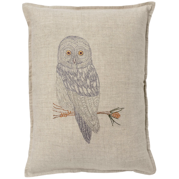 Coral & Tusk - Great Grey Owl Pillow - - Lekker Home
