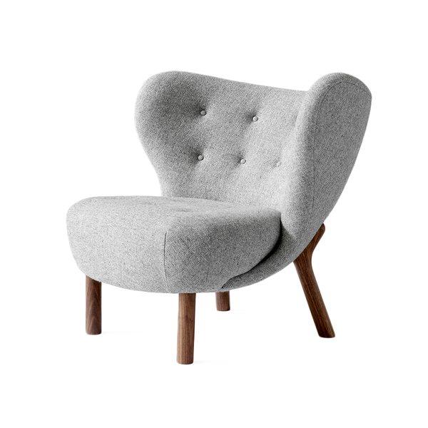 &Tradition - VB1 Little Petra Lounge Chair - Hallingdal 130 / Walnut - Lekker Home