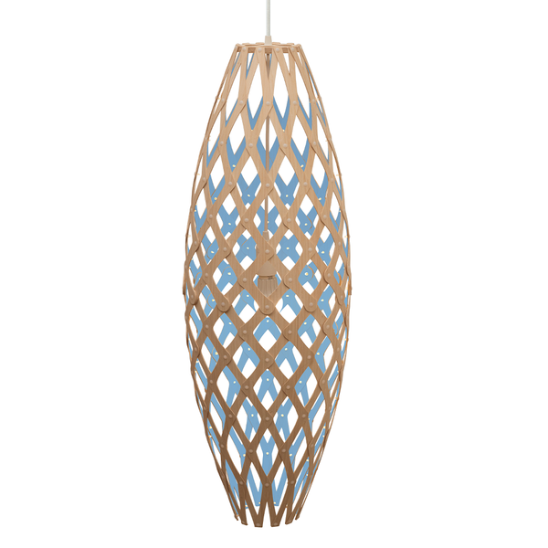 David Trubridge - Hinaki Pendant - Natural / Blue / 900 - Lekker Home