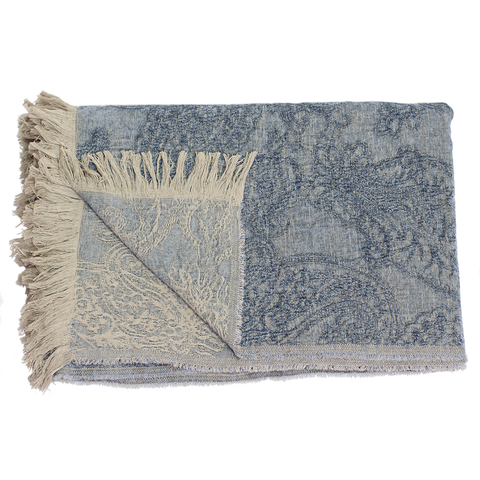 Uniquity - Savery Throw - Ice Blue / One Size - Lekker Home