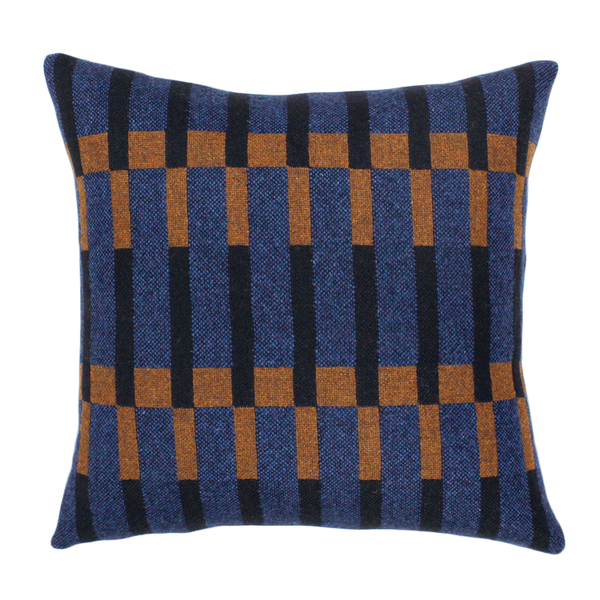 "Eleanor Pritchard - Dovetail Cushion - Indigo / 18"" x 18"" - Lekker Home"