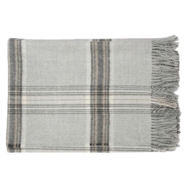 Area Bedding - Jasper Throw - Soft Grey / One Size - Lekker Home