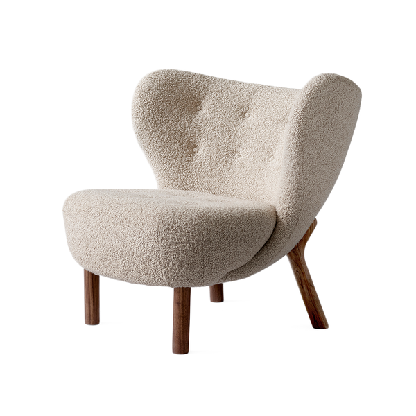 &Tradition - VB1 Little Petra Lounge Chair - Karakorum 003 / Walnut - Lekker Home
