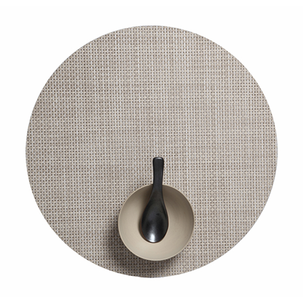 Chilewich - Basketweave Placemat - Khaki / Round - Lekker Home