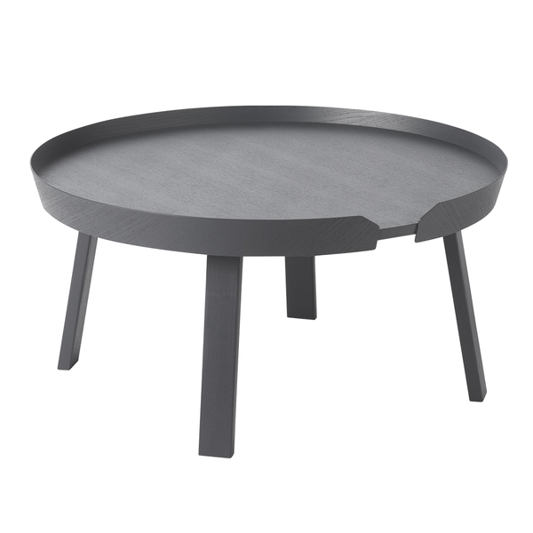 Muuto - Around Coffee Table - Anthracite / Large - Lekker Home