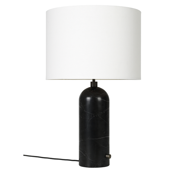 GUBI - Gravity Table Lamp - Black Marble Large / White - Lekker Home
