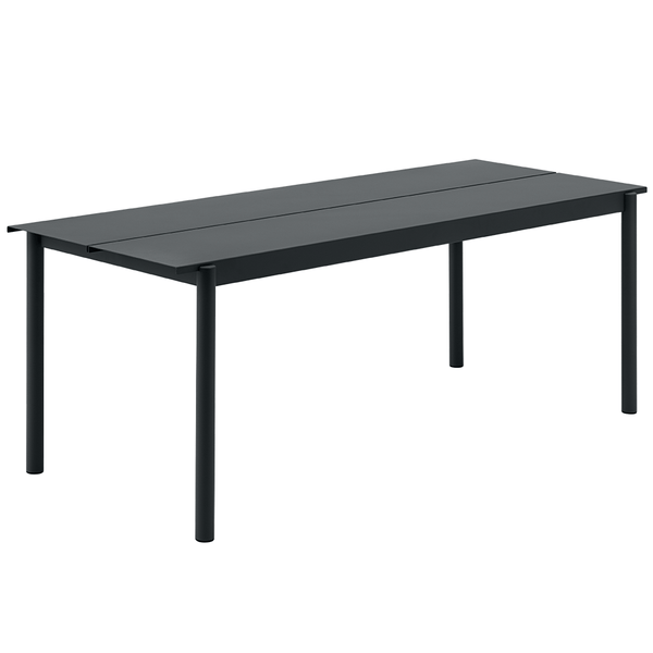 "Muuto - Linear Steel Table - Black / 78.7"" - Lekker Home"