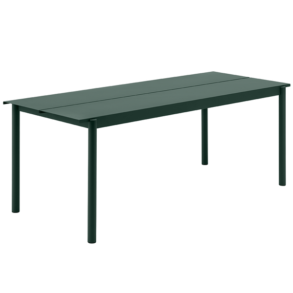 "Muuto - Linear Steel Table - Dark Green / 78.7"" - Lekker Home"