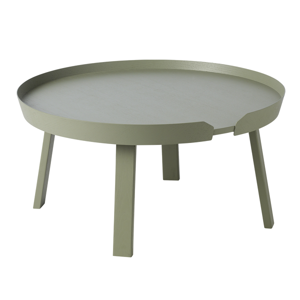 Muuto - Around Coffee Table - Dusty Green / Large - Lekker Home