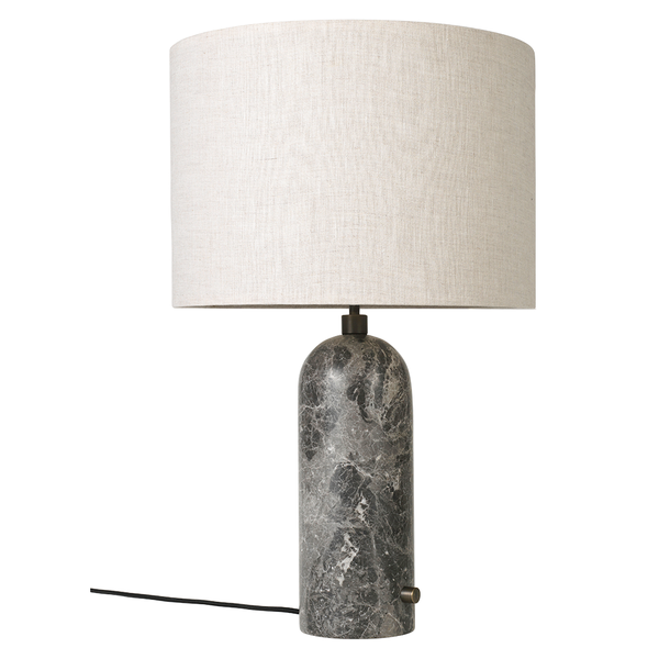 GUBI - Gravity Table Lamp - Grey Marble Large / Canvas - Lekker Home