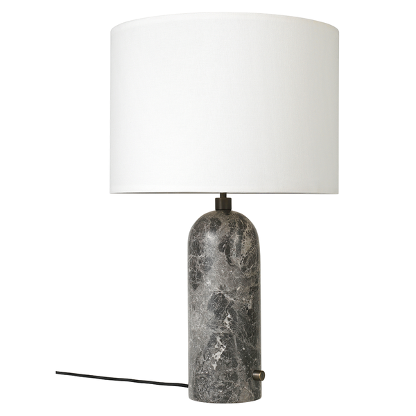 GUBI - Gravity Table Lamp - Grey Marble Large / White - Lekker Home