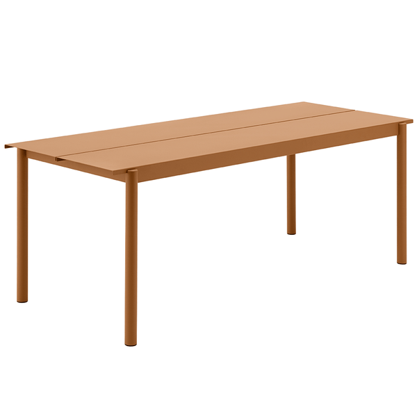 "Muuto - Linear Steel Table - Burnt Orange / 78.7"" - Lekker Home"