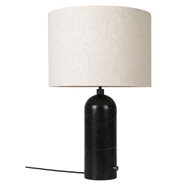 GUBI - Gravity Table Lamp - Black Marble Large / Canvas - Lekker Home