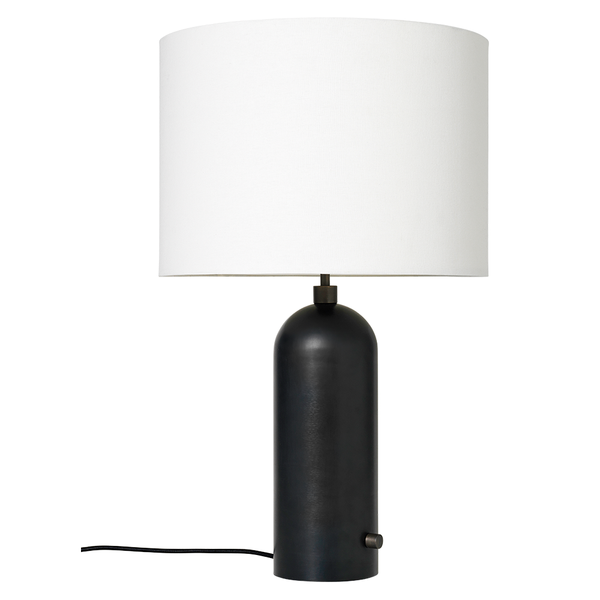 GUBI - Gravity Table Lamp - Blackened Steel Large / White - Lekker Home