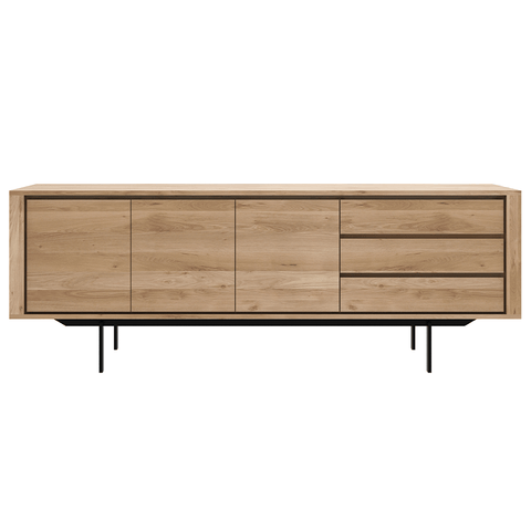 Ethnicraft NV - Shadow High Sideboard - Solid Oak / 1 Door + 3 Drawers - Lekker Home