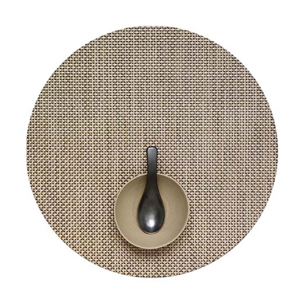 Chilewich - Basketweave Placemat - Latte / Round - Lekker Home
