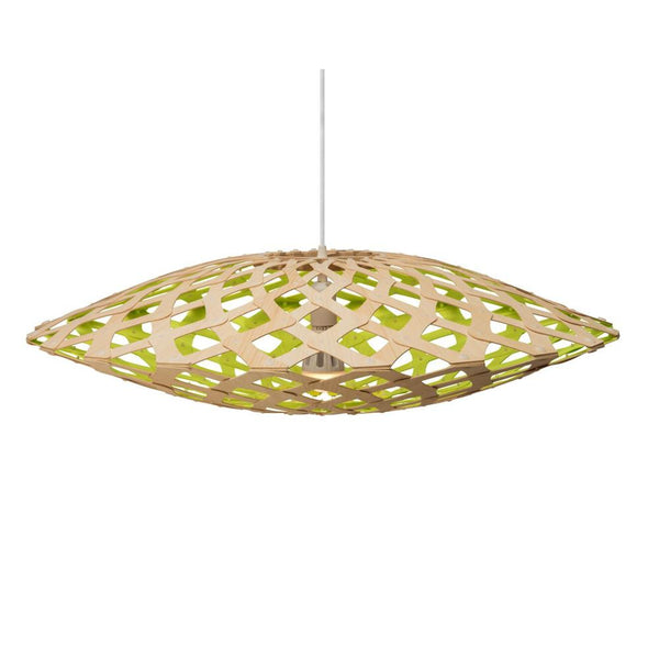 David Trubridge - Flax Pendant - Natural / Lime / 800 - Lekker Home