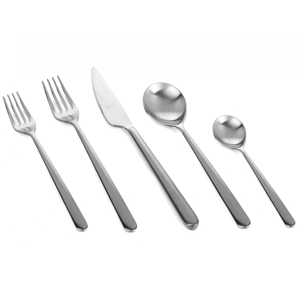 MEPRA S.p.A. - Linea Flatware Collection - Brushed Stainless Steel / 20 Piece Place Setting - Lekker Home
