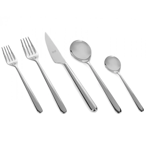 MEPRA S.p.A. - Linea Flatware Collection - Polished Stainless Steel / 5 Piece Place Setting - Lekker Home